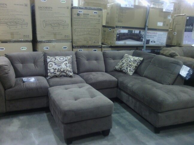 Grey Sofa Bed Couch Comfy Sectional Couch @ Costco | Sectional Sofa, Comfy