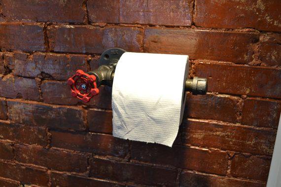 Industrial Steel Pipe Toilet Paper Holder