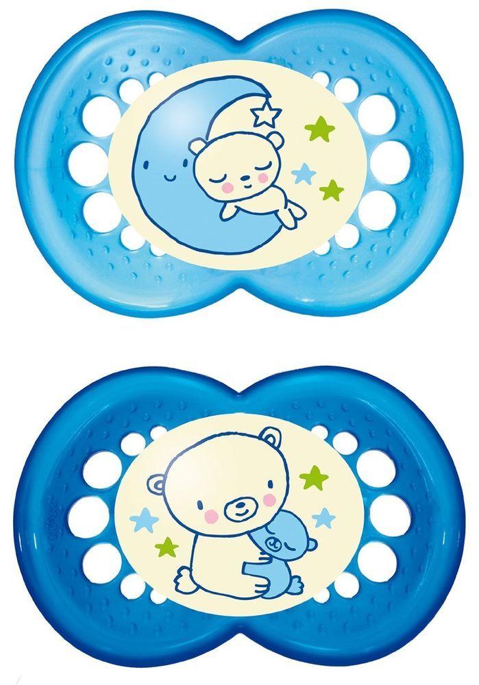 MAM 111211 -2 Ciuccio Night in silicone per bambini dai 6 ai 16 mesi, senza BPA