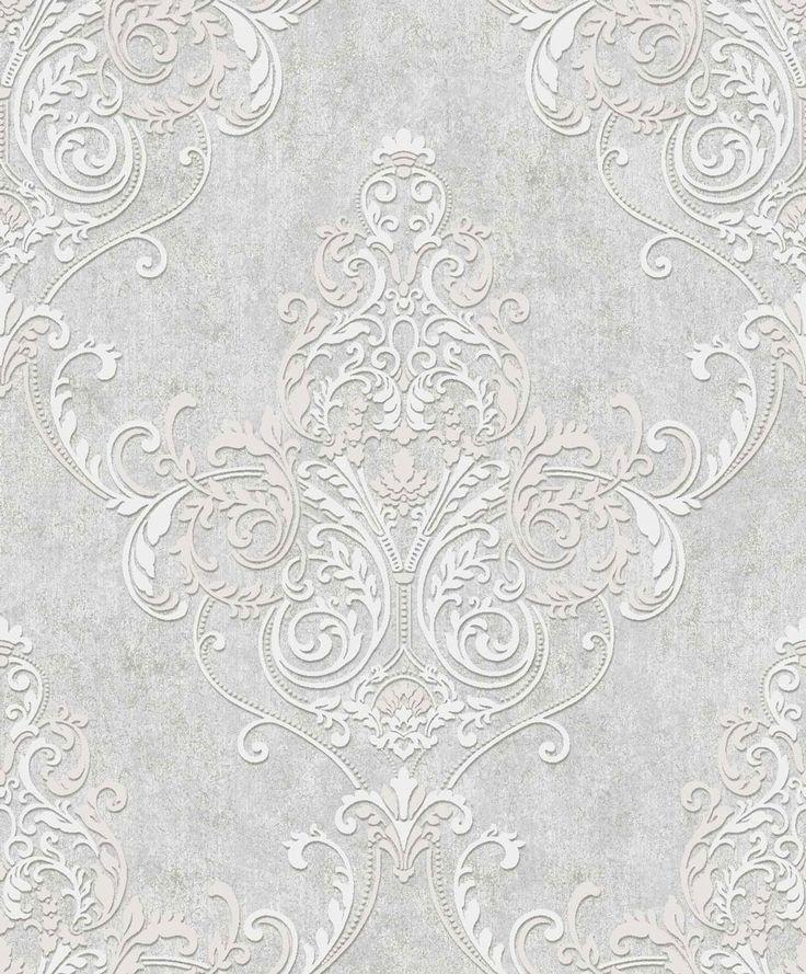Valdina Lustre / Grey wallpaper by Arthouse per il bagno