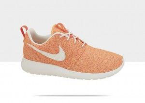 Nike Roshe Run Floral/Flower (Bloemenprint) Dames Sneakers Licht Oranje Varen Wit  kopen. Factory Store Belgie