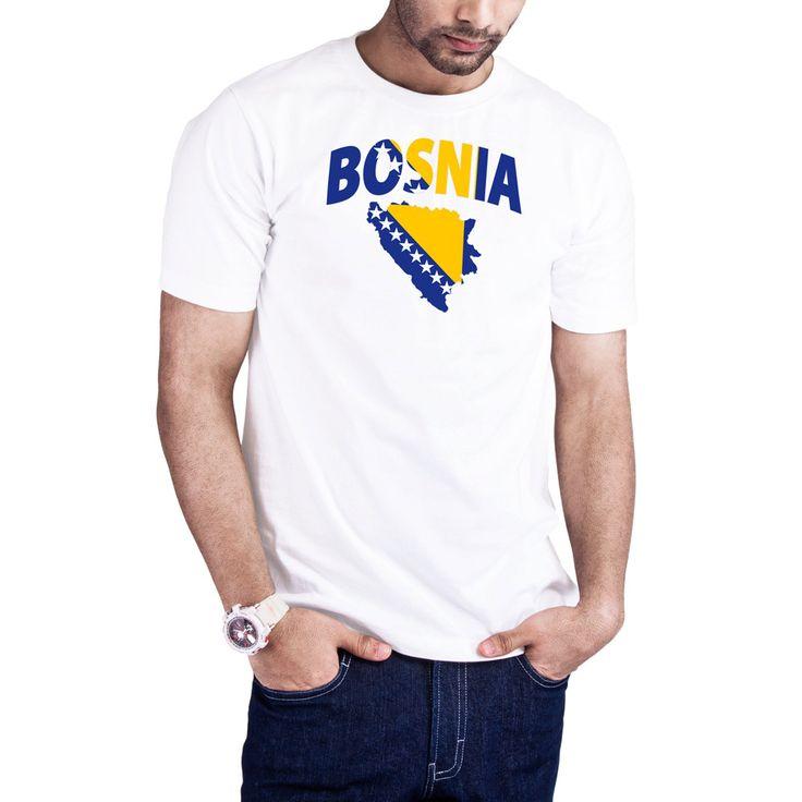 Men's Bosinan Flag Map Bosnia t-shirt by Calidreamers on Etsy