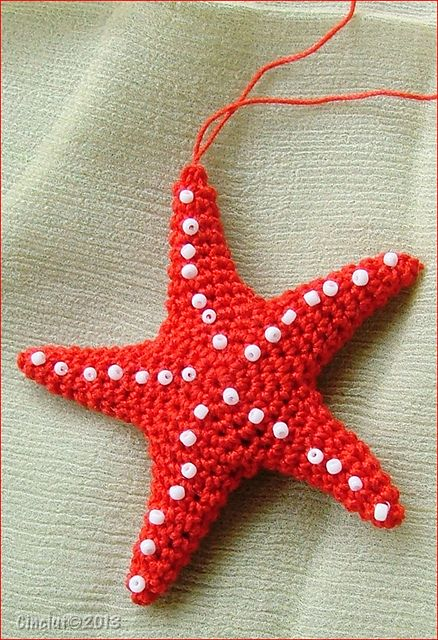 Starfish: free #crochet pattern by Sabrina Boscolo. 8/15 thanks so for share xox  ☆ ★   https://www.pinterest.com/peacefuldoves/