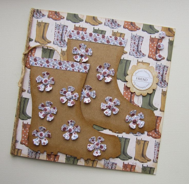 The Potting Shed collection, card designed by Kath Woods, using paper pad, toppers, sentiments. Gorgeous autumnal feel to collection featuring gardening tools, sheds, hedgehogs, flower pots, wellington boots and all things to do with gardening.