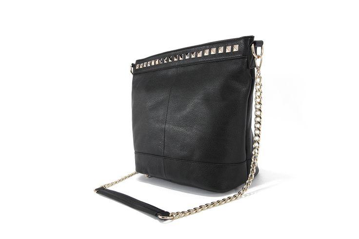 Genuine Baggage - Pink Corporation top leather handbag in style Elise Black, $99.95 (http://www.genuinebaggage.com.au/pink-corporation-top-leather-handbag-in-style-elise-black/)