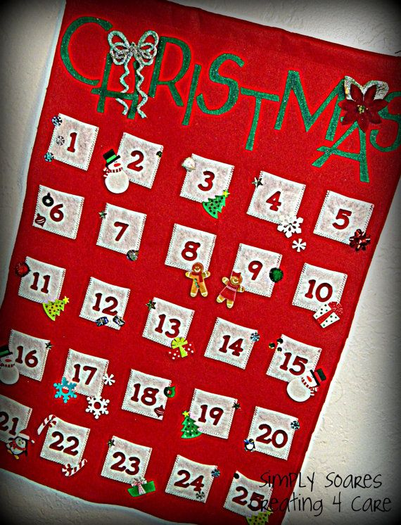 Christmas Avent Calendar Wall Hanging by SimplySoares on Etsy, $45.00