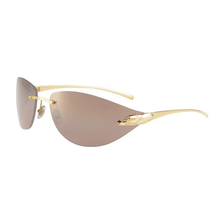Cartier Rimless Glasses : Panthere de Cartier rimless sunglasses What to wear ...