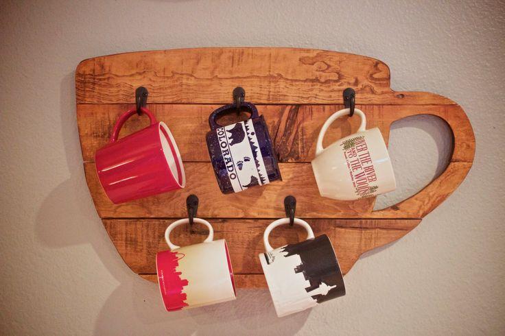 Reclaimed wood Coffee Mug Rack! https://www.etsy.com/listing/266520644/wood-mug-rack-mug-rack-cup-rack-wood