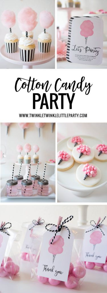 Sweet Cotton Candy Party Ideas + FREE Printables