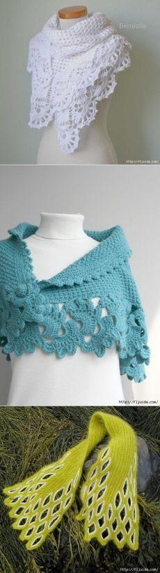 Идеи оригинальных шалей и шарфов.