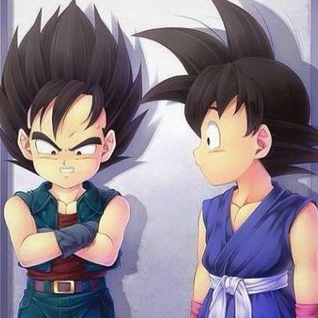 Kid Vegeta and kid Goku