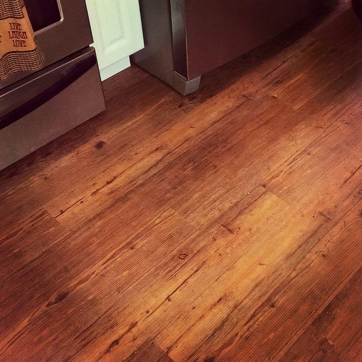Aesthetic Look Of Real Hardwood, But Itu0027s A Luxury Vinyl Plank Floor.  COREtec Plus Planks From USFLoors. Great COREtec Plus Installation In  Kitchen Area: ...