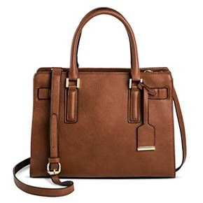 Women's Faux Leather Belted Tote with Crossbody Strap Handbag -Merona™ : Target