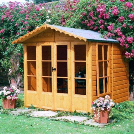 Kensington 7X7 Shiplap Timber Summerhouse - with Assembly Service: Image 1