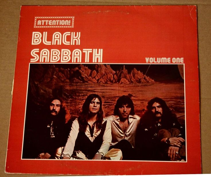 Black sabbath attention black sabbath volume one record lp vinyl