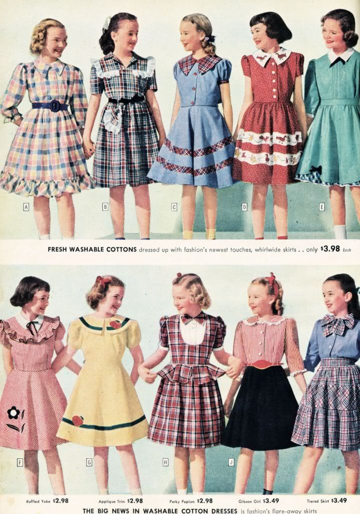 what-i-found: Sears, Roebuck and Co. Catalog from 1948 - Little Girls - Dresses…