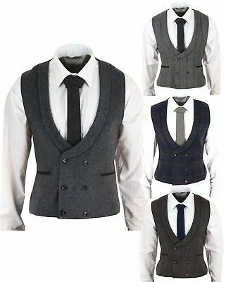 (eBay link) Mens Double Breasted Waistcoat Herringbone Tweed Peaky Blinders 1920…
