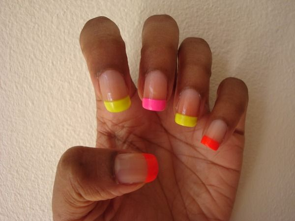 Neon French Manicure nails