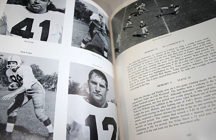 Hobart College Yearbook Geneva NY Echo Seneca Photos Seniors Football Clubs 1961