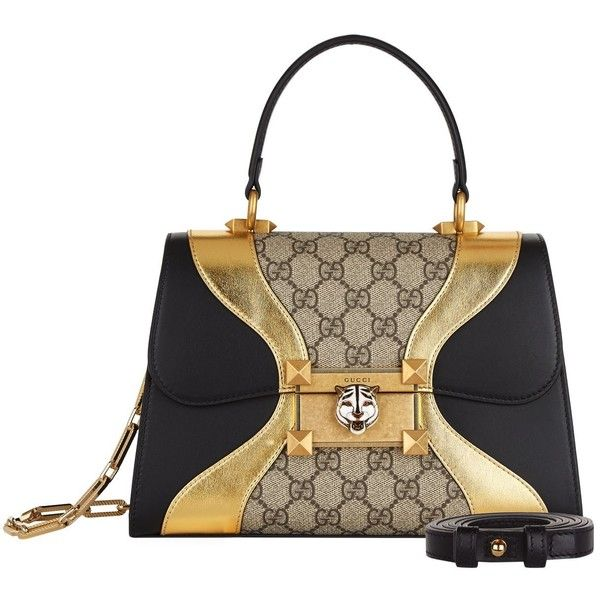 Gucci Small Osiride Top Handle Bag (£1,790) ❤ liked on Polyvore featuring bags, handbags, structured purse, real leather purses, top handle bags, genuine leather purse and leather purses