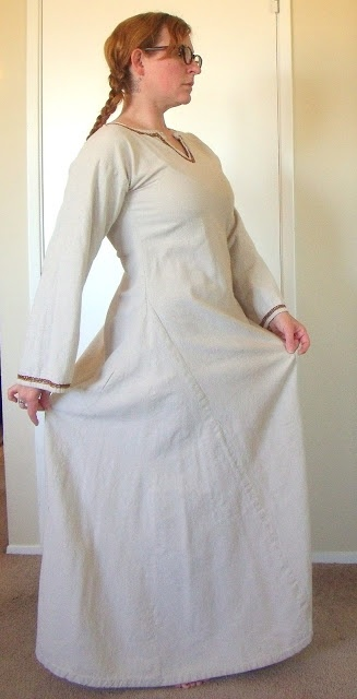 Adventures in Viking Garb-read the blog talks about wrap apron dress.