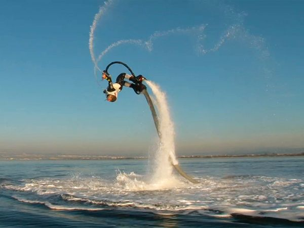 The Flyboard by Zapata Racing:  An adventure below as well as above the water surface