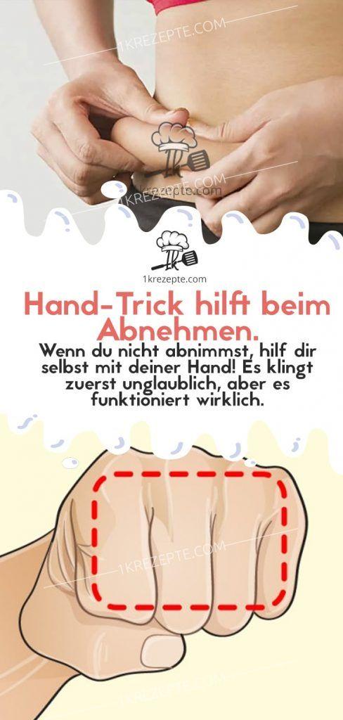 Hand-Trick hilft beim Abnehmen.