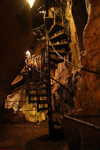 Stairs, Remouchamps caves, Belgium