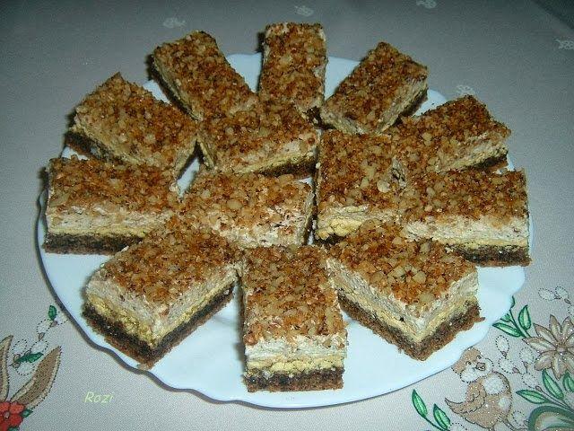 Rozi Erdélyi konyhája: Finom diós-(mandulás)szelet