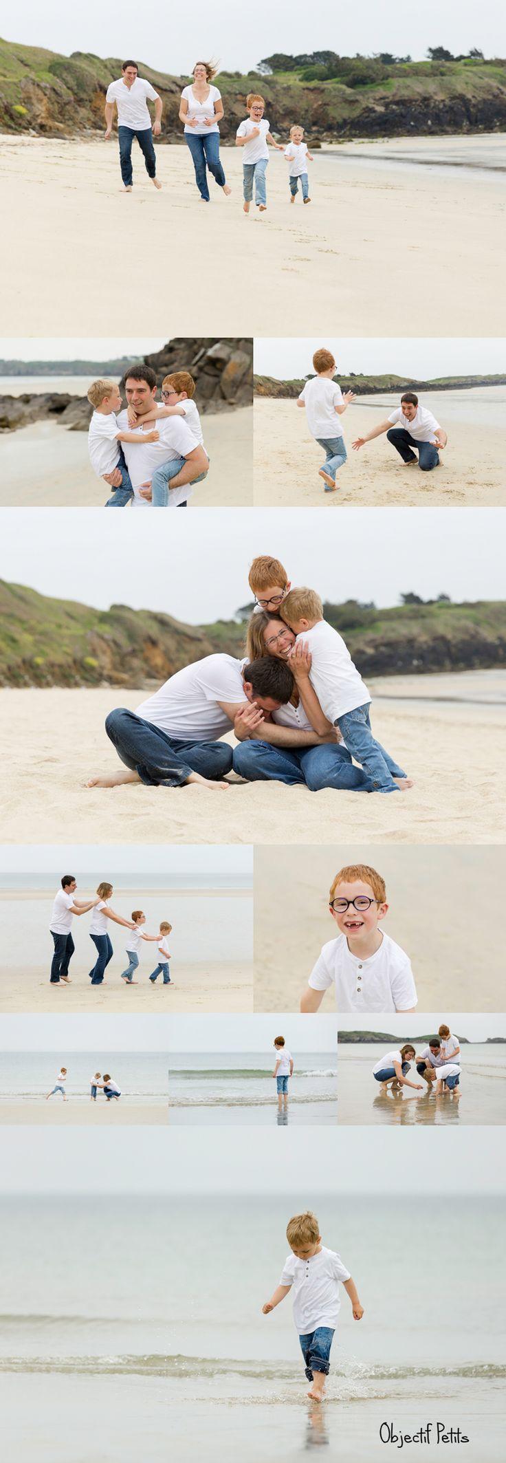Séance photo en famille à Brest sur la plage au mois de juin (Bretagne) http://objectifpetits.com