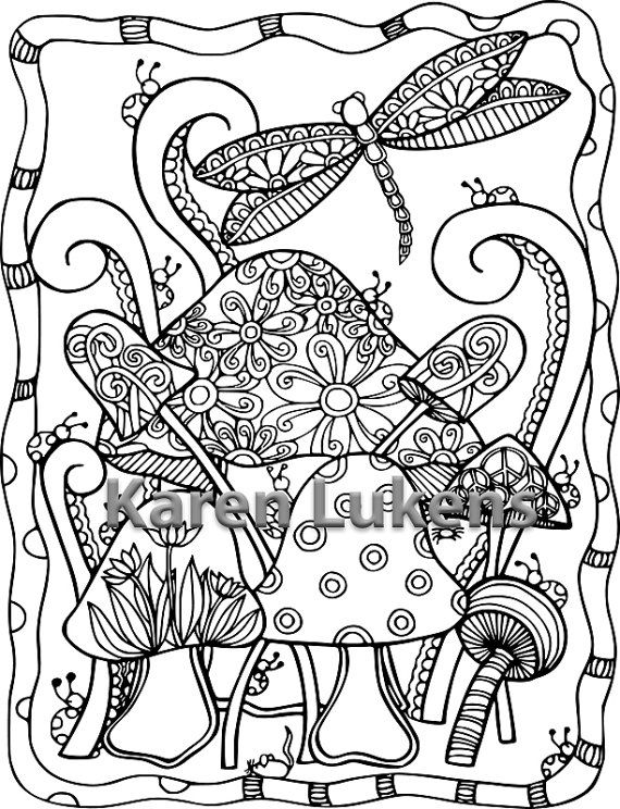 200 best images about Adult Colouring Mushrooms