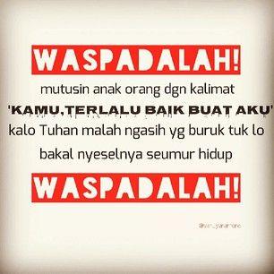 waspadalah! waspadalah :)