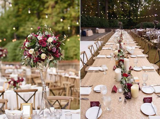 Red, White, and Rosy Real Wedding at Atlanta History Center // Susan Graham Signature Events | Laura Stone Photography