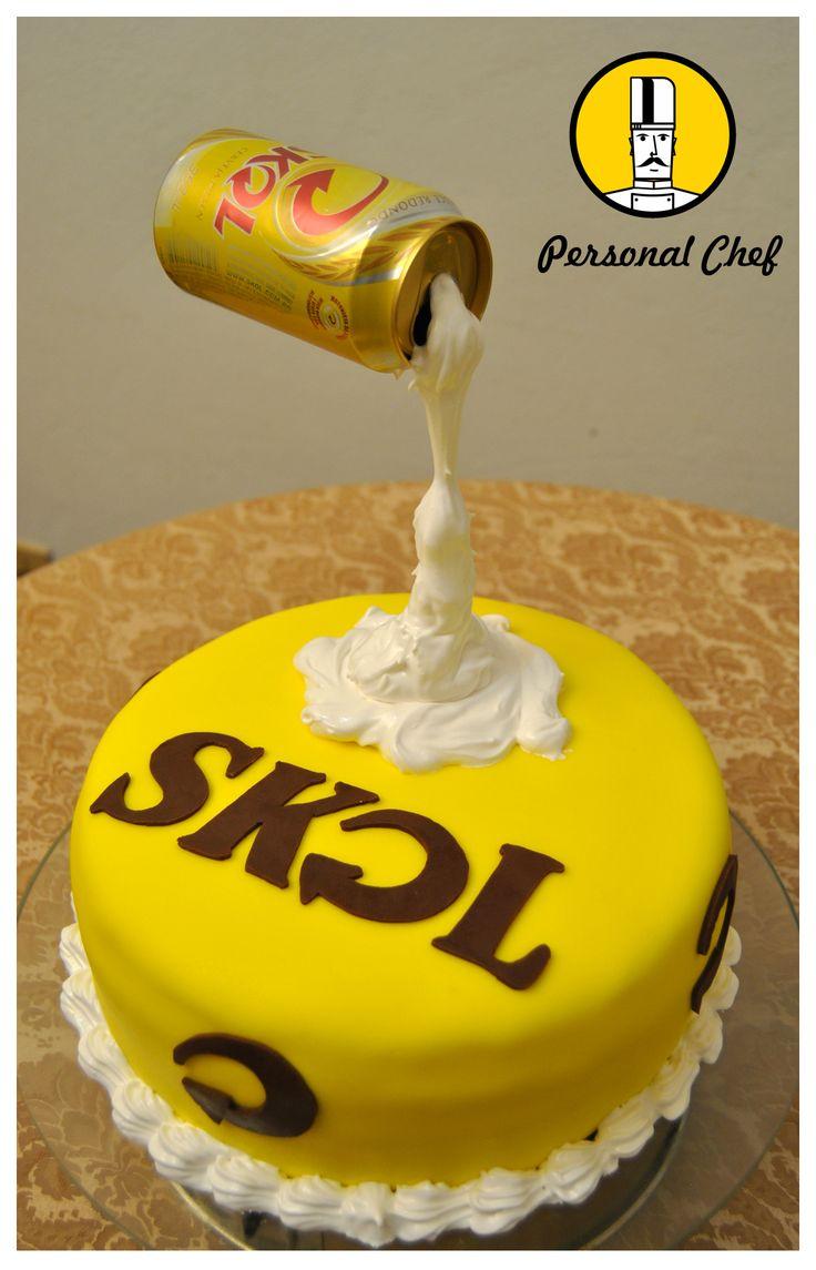 Bolo Skol  #skol #cakedesign #cake #boloskol