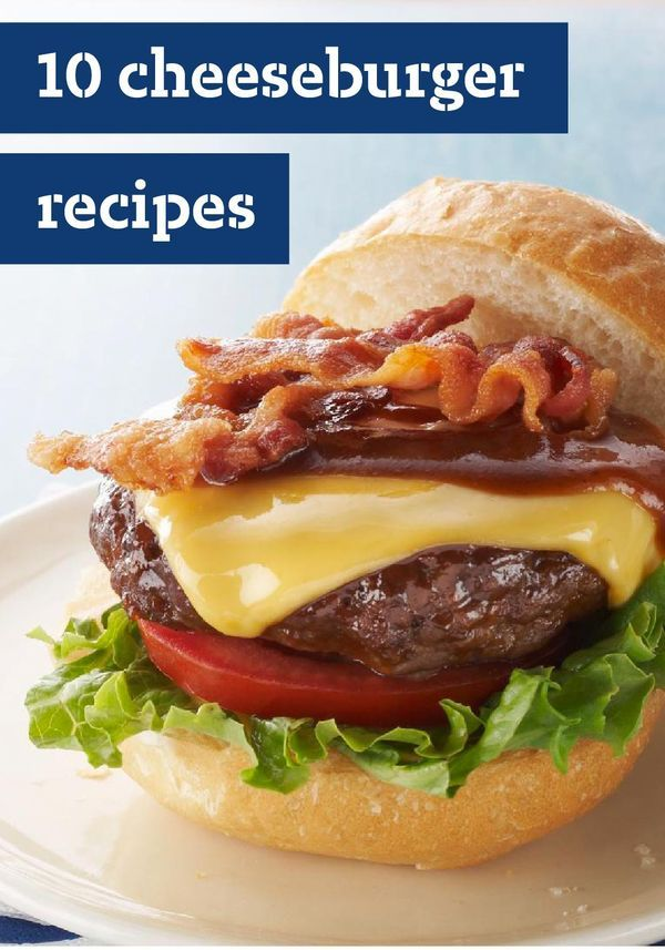 10 Cheeseburger Recipes – If it's summer, it's time to get the BBQ grill ready and make burgers. Chances are those burgers will have cheese, because that's how they like to get dressed up.