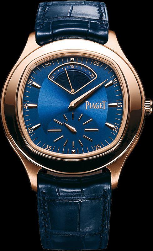 Piaget  Pink gold Regulator retrograde seconds Watch  Blue