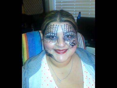 Spider Web Halloween Makeup