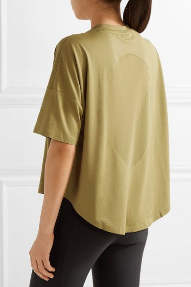 Nike - Nikelab Essentials Mesh-paneled Stretch Top - Chartreuse - x large