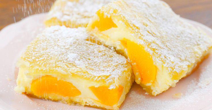 Barackos-vaníliás leveles szelet - Egy roppant egyszerű sütemény, ami után mindenki megnyalja mind a tíz ujját :)