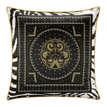 Glamour Silk Bed Cushion - Black - 60x60cm