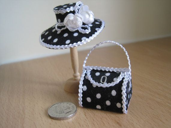 1:12 scale // Handmade Dollhouse Miniature Hat door 12thCouture, £11.00