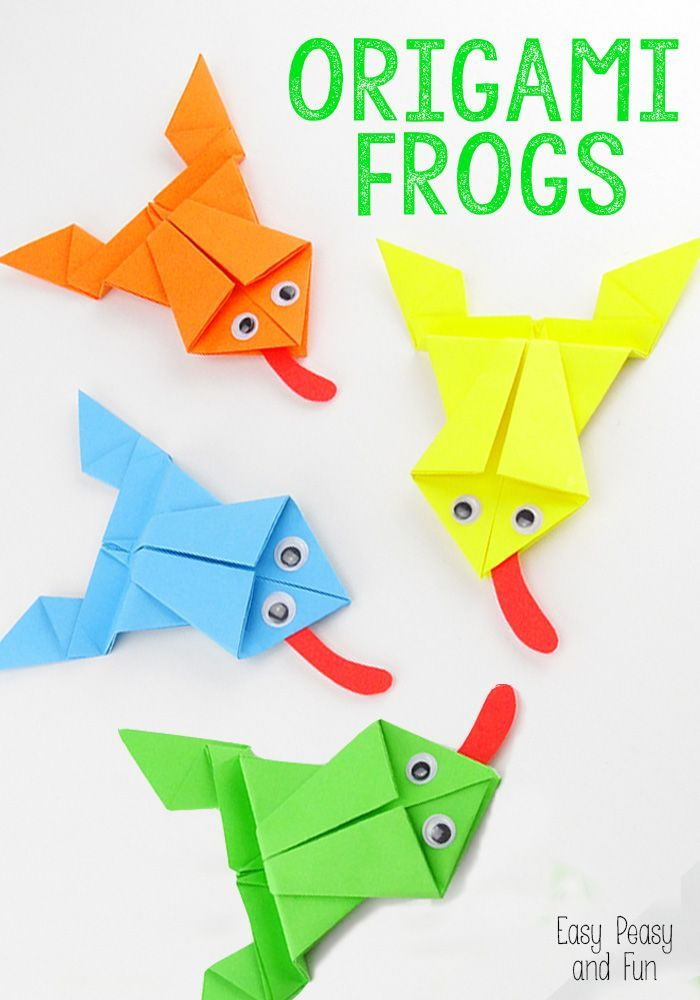 Origami Frogs Tutorial - Origami for Kids - Easy Peasy and Fun #Crafts #Origami #Frogs