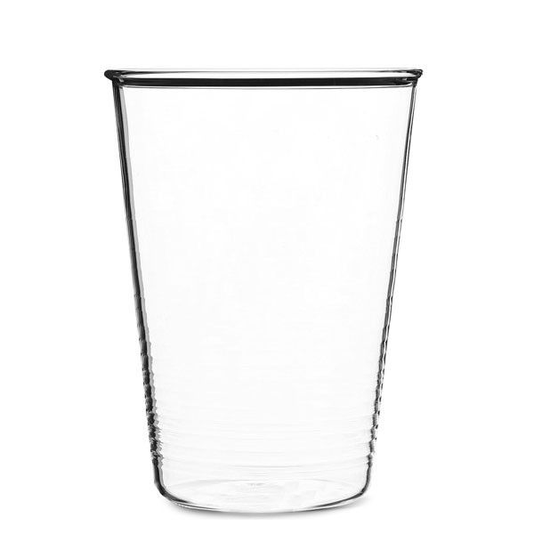 NEW | Serax clear cup | Ribbed glass beaker