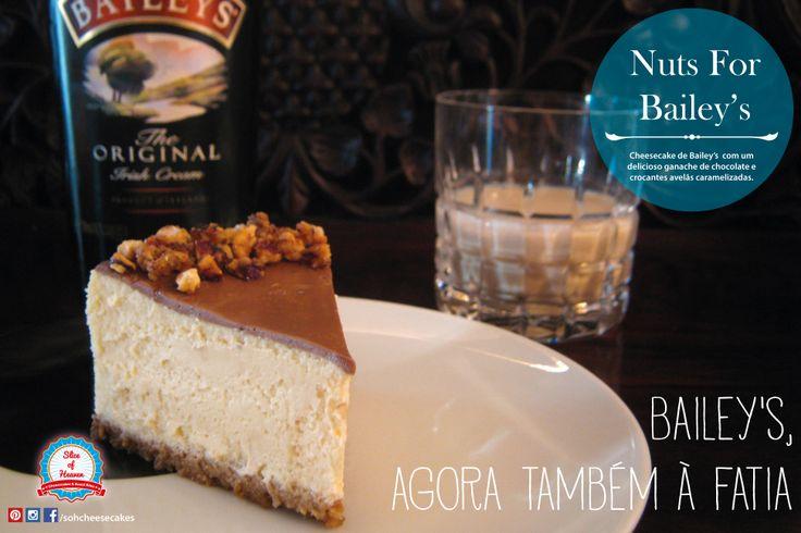 Cheesecake de Bailey's com Avelãs Crocantes -/- Bailey's Cheesecake With Crunchy Hazelnuts