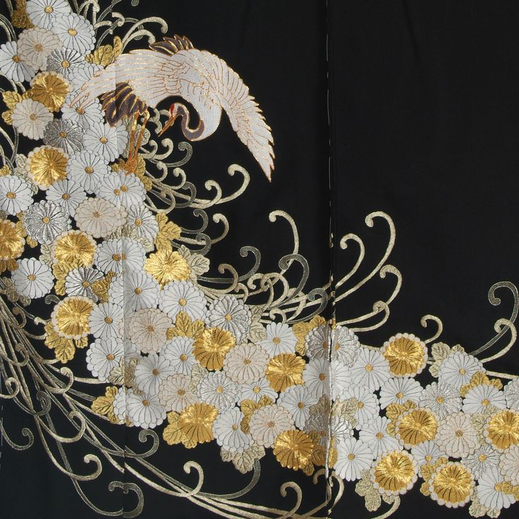 Magnificent Embroidery on Kuro Tomesode
