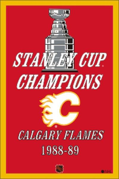 Is your partner a Calgary Flames Fan? If so, this banner celebrates the one year of the Flames being the best! NHL Stanley Cup Champion Banner  NHL Stanley Cup Champion Flag