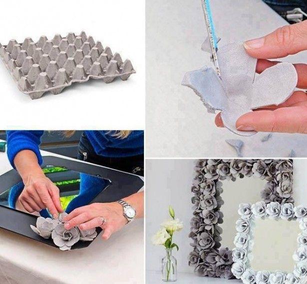 trabalhos manuais com material reciclado molduras - Pesquisa Google