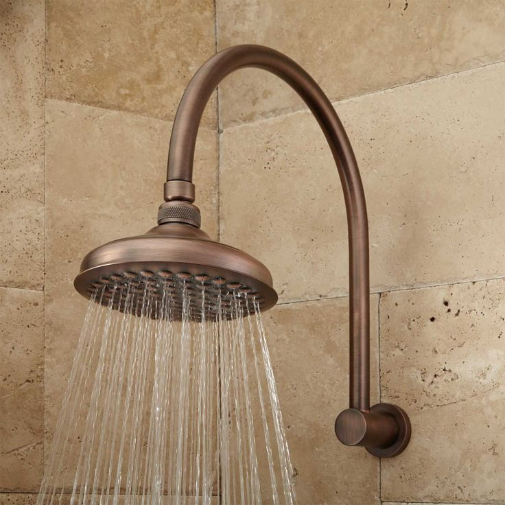 Roux Rainfall Shower Head with Modern Arm - Oil Rubbed Bronze