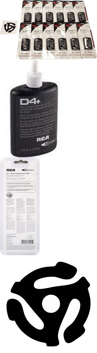 Vinyl Record Cleaning: (12) Rd1046 Rca Discwasher Record Cleaning D4+ Fluid Refill Bottles -> BUY IT NOW ONLY: $46.09 on eBay!