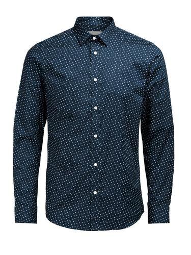 - PREMIUM by JACK & JONES - Komplett bedrucktes Slim-Fit-Hemd - Reine Baumwolle – weich und atmungsaktiv - Leichte Poplin-Webung, perfekt für den Sommer - Das Model trägt Größe L und ist 187 cm groß